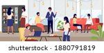 group of people taking coffee... | Shutterstock .eps vector #1880791819