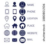 set of web icons for business ... | Shutterstock .eps vector #1880801506