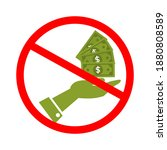anti corruption concept. do not ... | Shutterstock .eps vector #1880808589