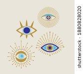 evil eye golden and blue vector ... | Shutterstock .eps vector #1880828020