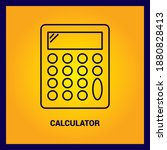 calculator thin line and pixel...