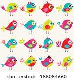 seamless birds pattern | Shutterstock .eps vector #188084660