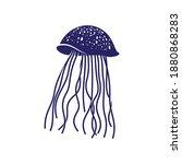 jellyfish design vector...   Shutterstock .eps vector #1880868283