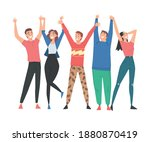 group of people characters... | Shutterstock .eps vector #1880870419