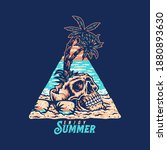 skull summer beach t shirt... | Shutterstock .eps vector #1880893630