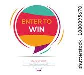 creative  enter to win  text... | Shutterstock .eps vector #1880895670