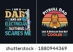 pitbull dad like a regular dad... | Shutterstock .eps vector #1880944369
