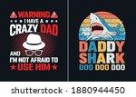 daddy shark doo doo doo t shirt ... | Shutterstock .eps vector #1880944450