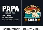 best dog dad ever t shirt... | Shutterstock .eps vector #1880947483