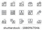 set of vector line icons... | Shutterstock .eps vector #1880967046