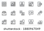 set of vector line icons... | Shutterstock .eps vector #1880967049
