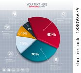 vector pie chart   business... | Shutterstock .eps vector #188098679