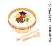 national dish for lunar new...   Shutterstock .eps vector #1880998240