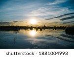 Beautiful Lake With The Sun...