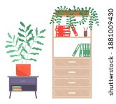 furniture for office  chest of... | Shutterstock .eps vector #1881009430