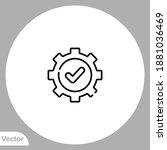 settings icon sign vector...   Shutterstock .eps vector #1881036469