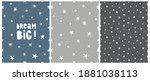 dream big. seamless hand drawn... | Shutterstock .eps vector #1881038113