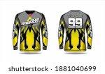 long sleeve sport jersey... | Shutterstock .eps vector #1881040699