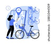 bike sharing abstract concept...   Shutterstock .eps vector #1881044509