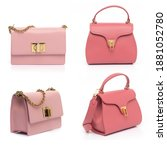 Pink Leather Purse Collection...