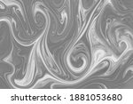 liquify swirl black and white... | Shutterstock . vector #1881053680