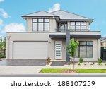 typical  facade of a modern... | Shutterstock . vector #188107259