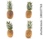 fresh ripe pineapples isolated... | Shutterstock . vector #188107763