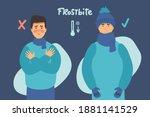 man froze. frostbite concept... | Shutterstock .eps vector #1881141529
