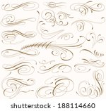 fine line set of design elements | Shutterstock .eps vector #188114660