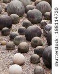 stone ball in the garden. | Shutterstock . vector #188114720