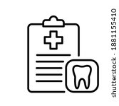 dental checklist and tooth line ...   Shutterstock .eps vector #1881155410