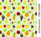 fresh natural fruit seamless... | Shutterstock .eps vector #188116088