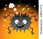 funny spiky black creature ... | Shutterstock .eps vector #18811771