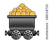 iron mine cart with coins
