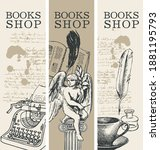 Set Of Three Banners For Books...