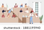 students study in university or ...   Shutterstock .eps vector #1881195940