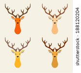 hipster deer colorful retro... | Shutterstock .eps vector #188120204