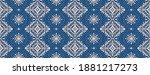 oriental vector damask pattern. ...   Shutterstock .eps vector #1881217273