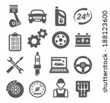 auto service icons | Shutterstock .eps vector #188123600