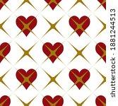 wonderland white  red  gold...   Shutterstock .eps vector #1881244513