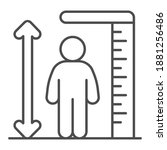 ruler and human height thin...   Shutterstock .eps vector #1881256486