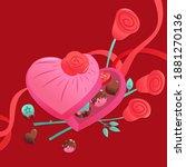 a vector illustration of super... | Shutterstock .eps vector #1881270136