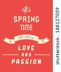 modern springtime quote... | Shutterstock .eps vector #188127059
