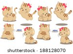 cute cats play and jump | Shutterstock .eps vector #188128070
