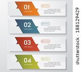design clean number banners... | Shutterstock .eps vector #188129429