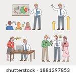 business man's job. a... | Shutterstock .eps vector #1881297853
