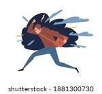 young man feeling anger  rage.... | Shutterstock .eps vector #1881300730