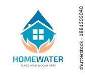 home water care vector logo... | Shutterstock .eps vector #1881303040