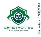 safety drive vector logo... | Shutterstock .eps vector #1881303109