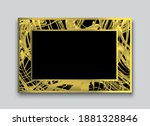 abstract gold and black... | Shutterstock .eps vector #1881328846